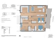 Plano Piso 85 m2 en venta St Brú , Badalona centro
