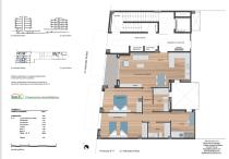 Plano Piso 115 m2 en venta Mendez Nuñez , Badalona centro